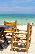 idyllic location for breakfast - stock photo