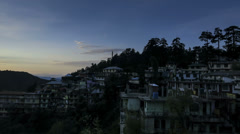 Mcleod Ganj sunrise time lapse Stock Footage
