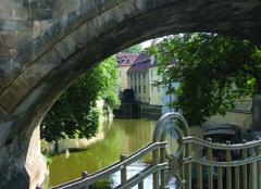 Praha's little venice - stock photo