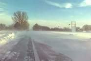 Stock Video Footage of Hurricane wind and snow