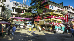 Mcleod Ganj main square time lapse Stock Footage
