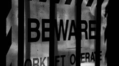 Beware sign Stock Footage