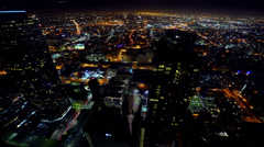 Cityscape Neon 13 Los Angeles Timelapse Light Trails - stock footage