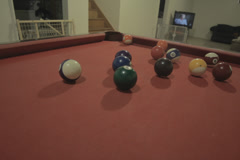 Home Pool Game (billiards) Stock Footage