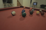 Stock Video Footage of Home Pool Game (billiards)