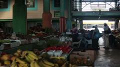 Market square Antigua Island Caribbean HD 1255 Stock Footage