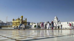 Amritsar Golden Temple area day time lapse Stock Footage