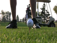 CLose up golf drive Stock Footage