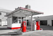 Stock Photo of vintage gasoline station