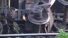 Coal train derailment CU Stock Footage