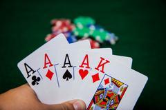 Four of a kind aces Stock Photos