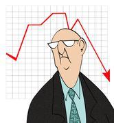 downturn in sales - stock illustration