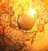Stock Photo of vintage globe