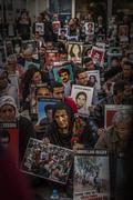 istanbul commemoration people dead against regime - stock photo