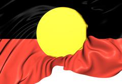 australian aboriginal flag - stock illustration