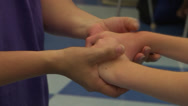 Stock Video Footage of autism therapy care hands and arms
