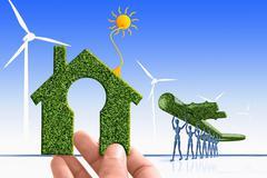 Go green, alternative energy, concept Stock Illustration
