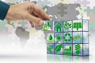 Stock Illustration of block game, alternative energy, concept