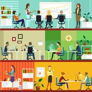 Business People at the Office. Stock Illustration