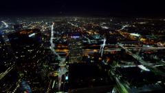4K Cityscape Neon 12 Los Angeles Timelapse Light Trails - stock footage