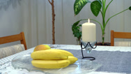 Stock Video Footage of Fruit Plate and Candle