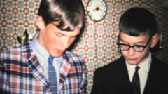 High School Graduation Dinner Party-1966 Vintage 8mm film Stock Footage