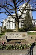 Vancouver city hall a different view tall Stock Photos