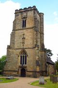 eleventh century saint michaels church in crawley west sussex - stock photo