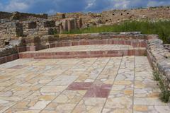 City square in the ruins od late roman city bargala near shtip macedonia Stock Photos