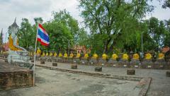 Wat yai chai mongkol, thailand, ayuthaya Stock Footage