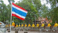 At wat yai chai mongkol, thailand, ayuthaya Stock Footage