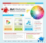 Art Creative Paint Website Template Designart website Stock Illustration