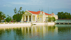 Thailand, ayuthaya, bang pa-in palace. building near the pond Stock Footage