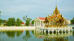 Thailand, ayuthaya, panorama of bang pa-in palace Stock Footage