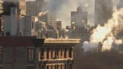 New York City buildings in winter Stock Footage