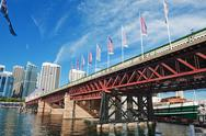 Stock Photo of sydney pyrmont bridge