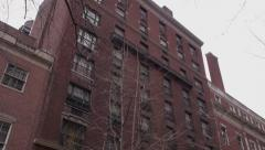 New York City apartment building - stock footage