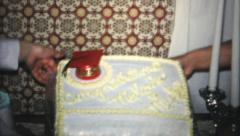 High School Graduation Cake And Party-1966 Vintage 8mm film - stock footage