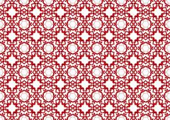 Vector of Red Linked Hearts Seamless Background Stock Illustration