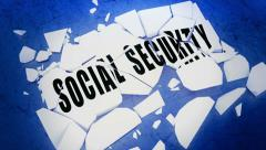 Breaking Social Security Stock Footage