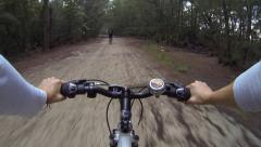 Open Bike trail Stock Footage