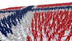 Norway Flag Crowd Stock Footage