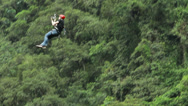 Stock Video Footage of Relaxed zipline HD