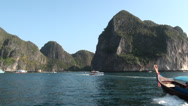 Stock Video Footage of Boats in Maya Bay, Thailand