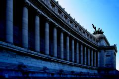 colonnade at a monument - stock photo