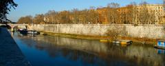 tiber river - stock photo