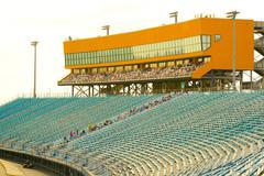 homestead miami speedway grandstand - stock photo