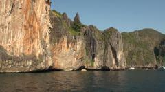 Phi Phi islands & maya bay Stock Footage
