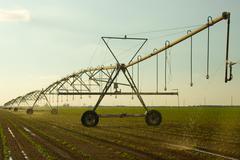 farm irrigation - stock photo