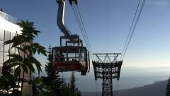 Mountain Tramway - 03 - Driving Up Stock Footage